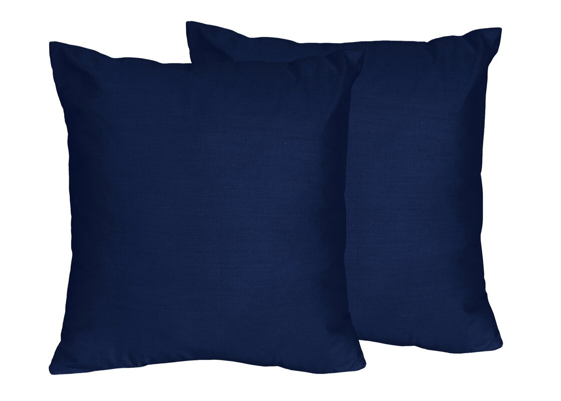 Captivating Chevron Solid Navy Blue Throw Pillows