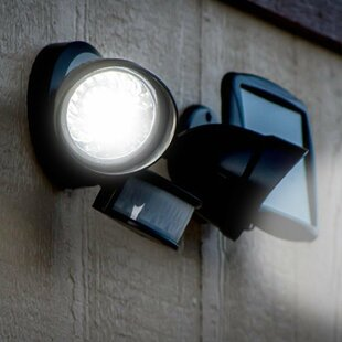 LED Solar Power Outdoor Security Spotlight with Motion Sensor by Myfuncorp