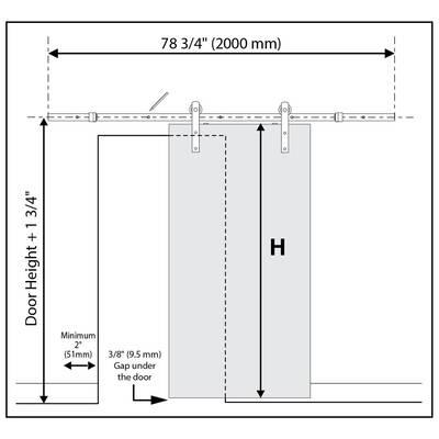 Carrara Solid Mdf Panelled Slab Interior Barn Door