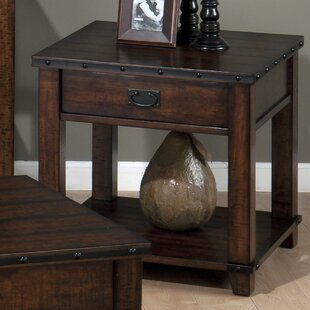 Boscobel Square End Table With Storage by Loon Peak