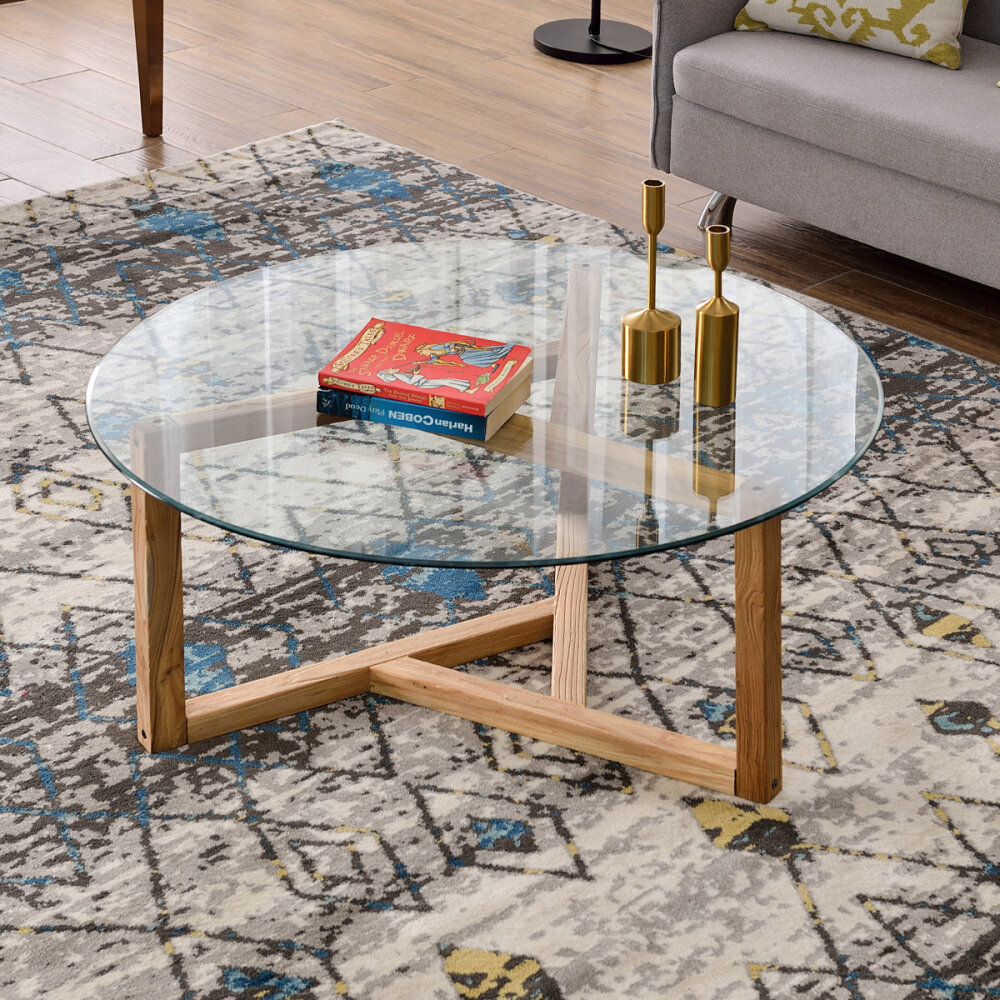 Glass Mid Century Modern Coffee Tables You Ll Love In 2021 Wayfair