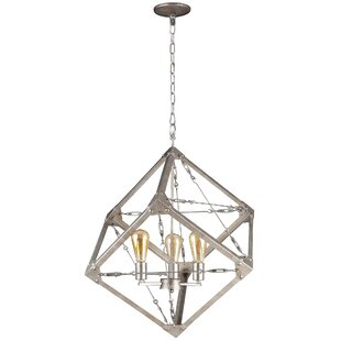Varaluz Askew 3-Light Square/Rectangle Chandelier