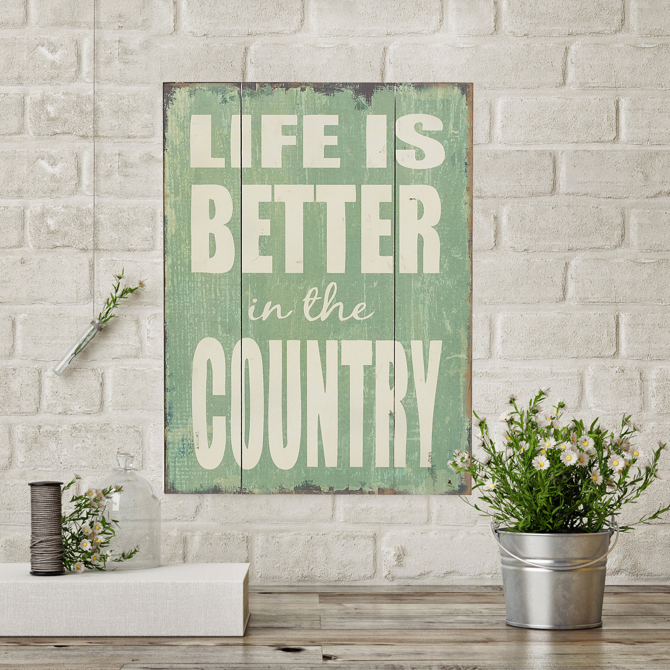Life Is Better In The Country Wood Wall