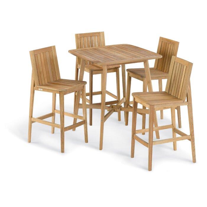 Marvelous Kentmere 5 Piece Bar Height Dining Set Uwap Interior Chair Design Uwaporg