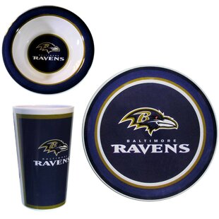NFL Melamine 12 Piece Dinnerware Set, Service for 4