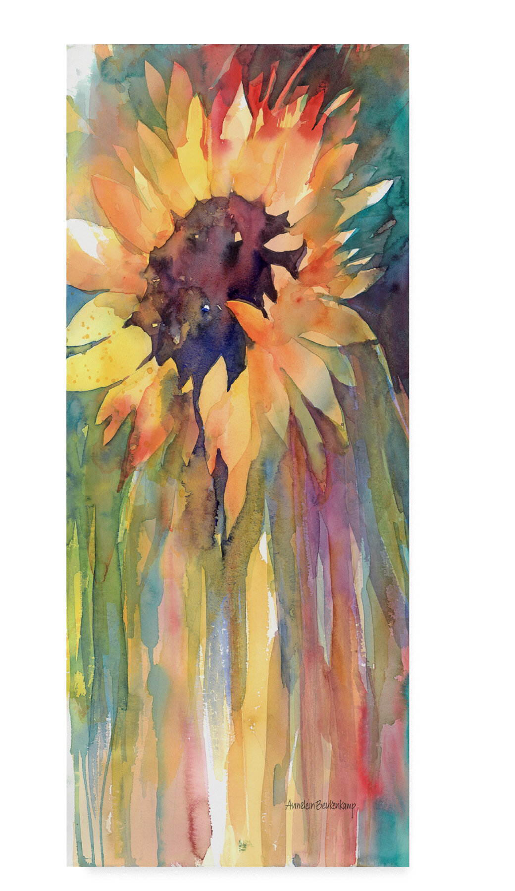 Sunflower Flower Yellow Photo Art Home House Wall Decor Matted Print Picture