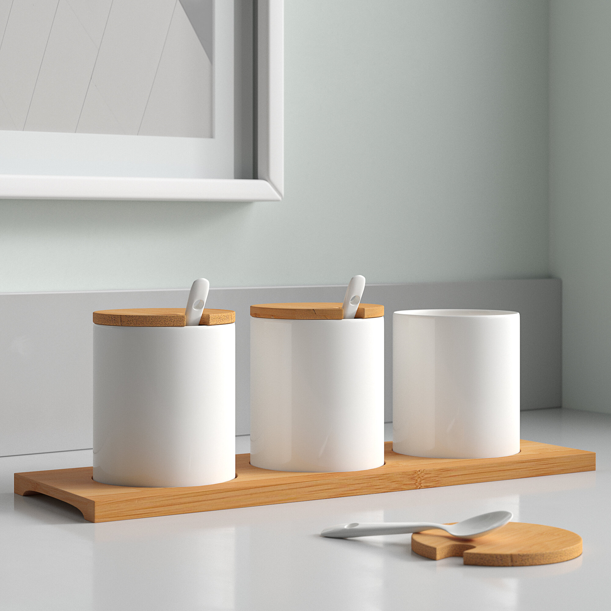Wood Kitchen Canisters Jars You Ll Love In 2021 Wayfair
