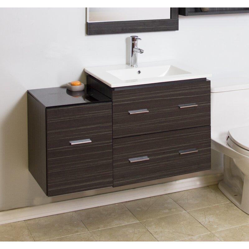 American Imaginations 38 Single Modern Wall Mount Bathroom Vanity