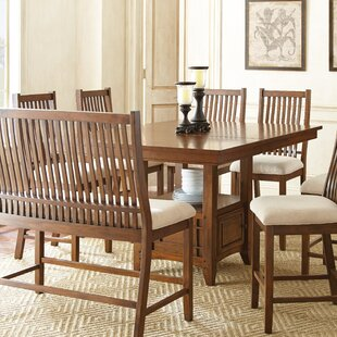 Quaker 7 Piece Solid Wood Dining Set Alcott Hill