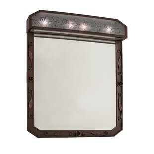 Inexpensive Greenbriar Arabesque Lighted Bathroom/Vanity Mirror By Meyda Tiffany