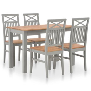 Maddy Dining Set With 4 Chairs By August Grove