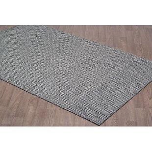 Find a Liriano Diamond Reversible Hand-Woven Wool Gray/Black Area Rug ByBrayden Studio