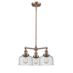 Ailbe Large Bell 3-Light Shaded Chandelier by 17 Stories