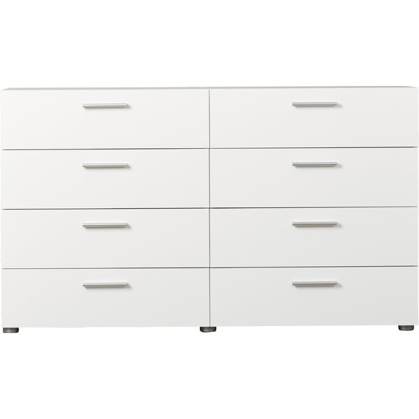 Pannell 8 Drawer Double Dresser Reviews Allmodern