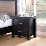 Cazandra 2 - Drawer Nightstand in Black by Latitude Run®