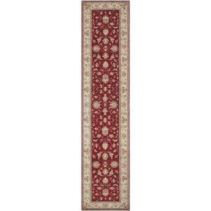 Turner Chobi Burgundy Knotted Wool Area Rug