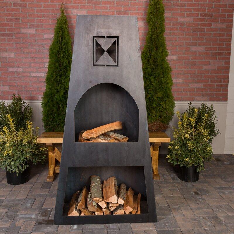 Merveilleux Fire Knight Steel Wood Burning Outdoor Fireplace