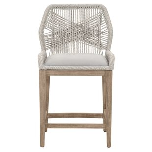 Aronson Intricate Rope Weave Design Bar Stool Bungalow Rose