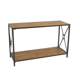 Auberge Robust Wood and Metal Console Table