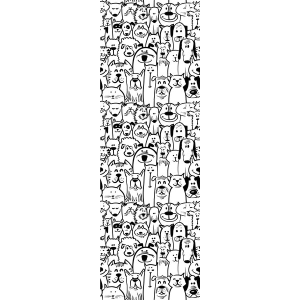 Barger Removable Nursery Self Wallpaper Dogs Cats 4 17 L X 25 W Peel And Stick Wallpaper Roll