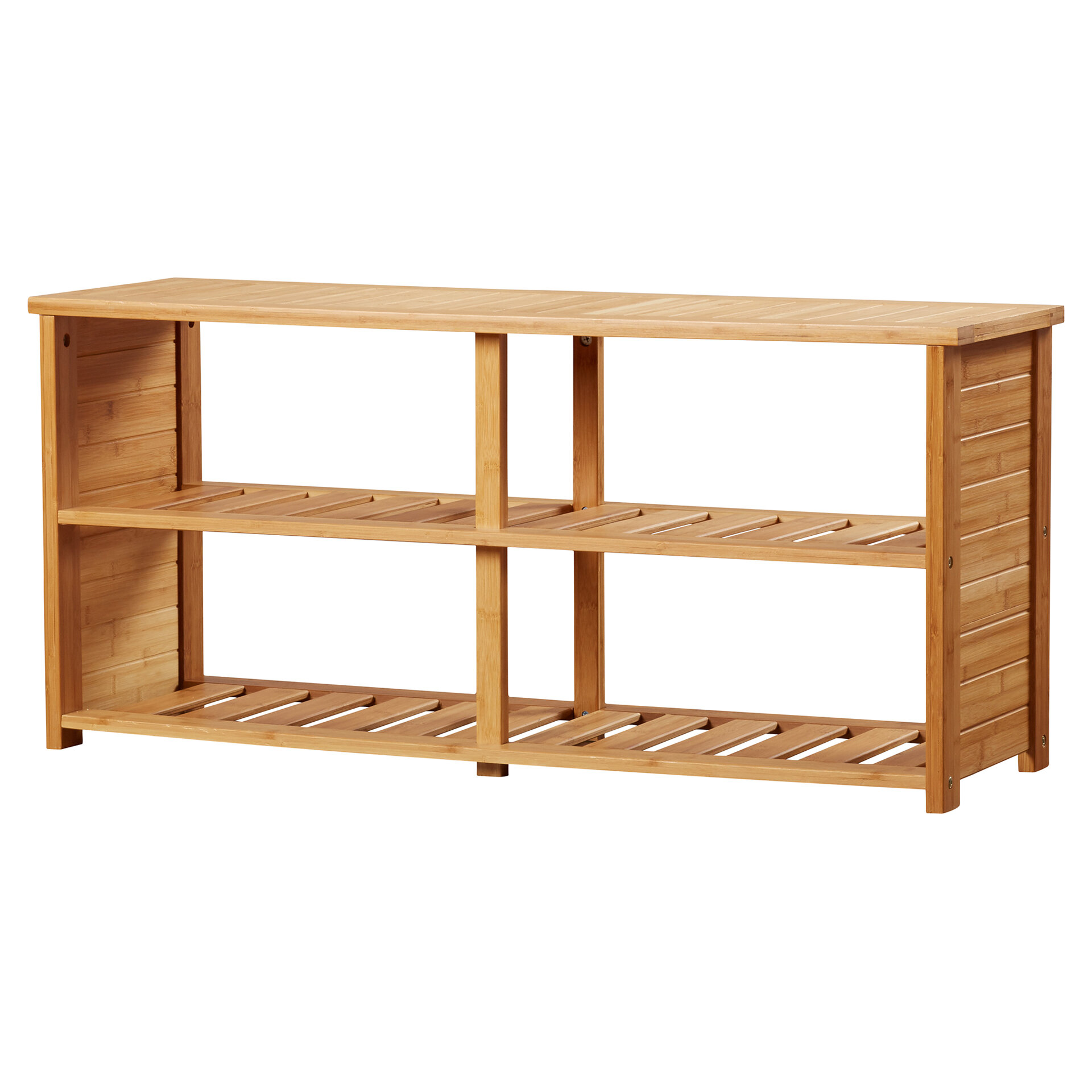 Picture of: Beachcrest Home 10 Pair Bamboo Shoe Storage Bench Reviews Wayfair