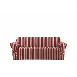 Sure Fit South Hampton Stripe Box Cushion Sofa Slipcover