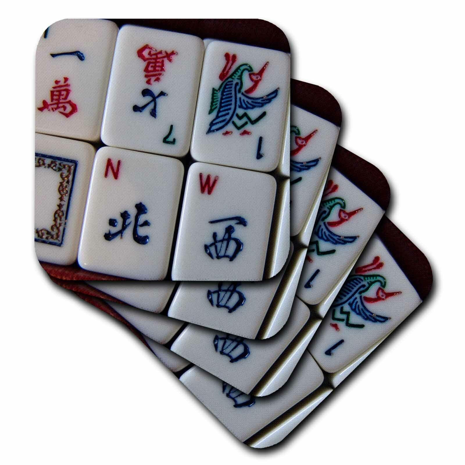 3drose Ceramic Tile Coasters Luv Mah Jongg Set Of 4 Cst 12772 3 Wayfair