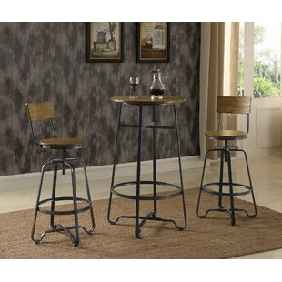 Carrick 3 Piece Pub Table Set (Set of 3) Williston Forge