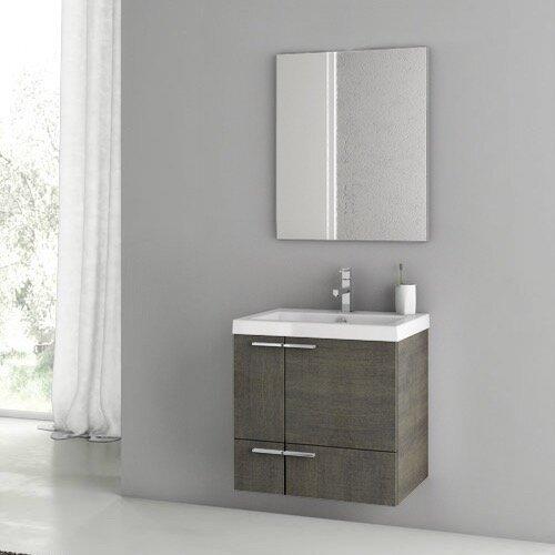 Ivy Bronx Letourneau 24 Single Bathroom Vanity Set With Mirror Wayfair