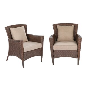 Beamer Patio Chair with Cushions (Set of 2)