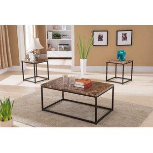 Latitude Run Kamden 3 Piece Coffee Table Set