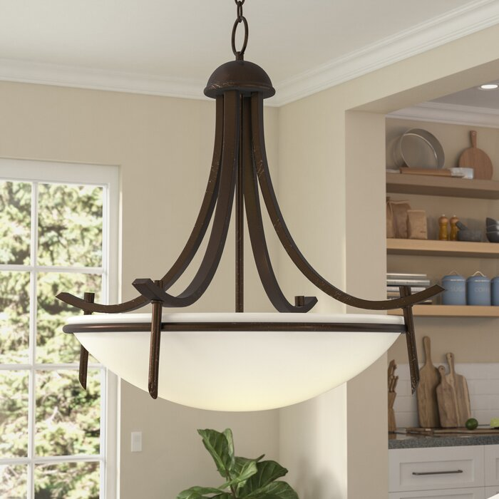 Newent 3 Light Single Bowl Pendant