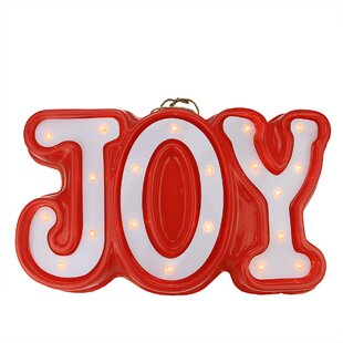 Lighted JOY Hanging Christmas Window Wall Décor By Northlight Seasonal