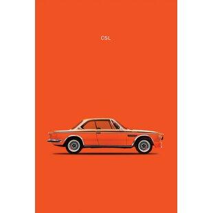'1972 BMW CSL' Graphic Art Print on Canvas ByEast Urban Home