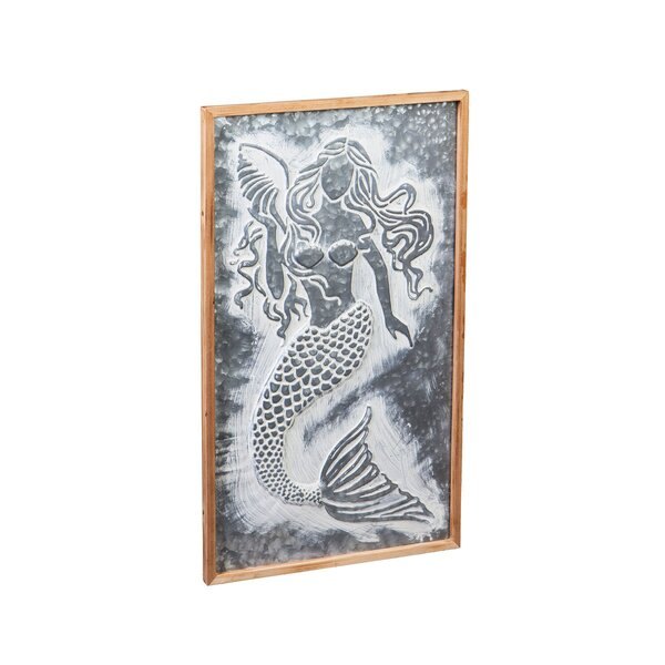 12 x 15 Crystal Art Times 12x15 Mermaid Metal Sign