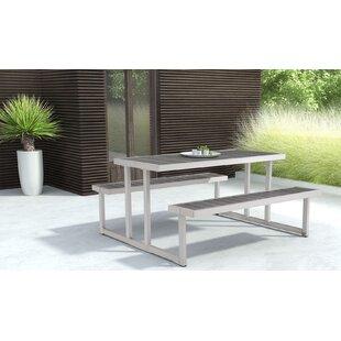 Solid Wood Picnic Table by Brayden Studio