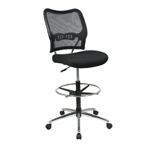 Pascarella Mid-Back Mesh Drafting Chair by Symple Stuff