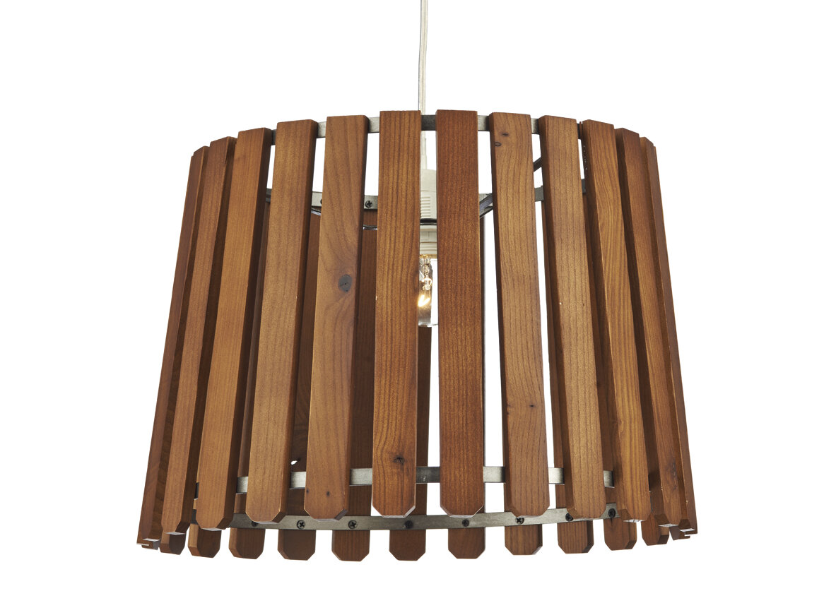 Dar Lighting 36 cm Lampenschirm Fence aus Holz | Wayfair.de