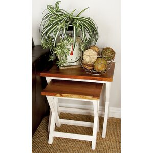 Cole & Grey Wood 3 Piece Nesting Tables
