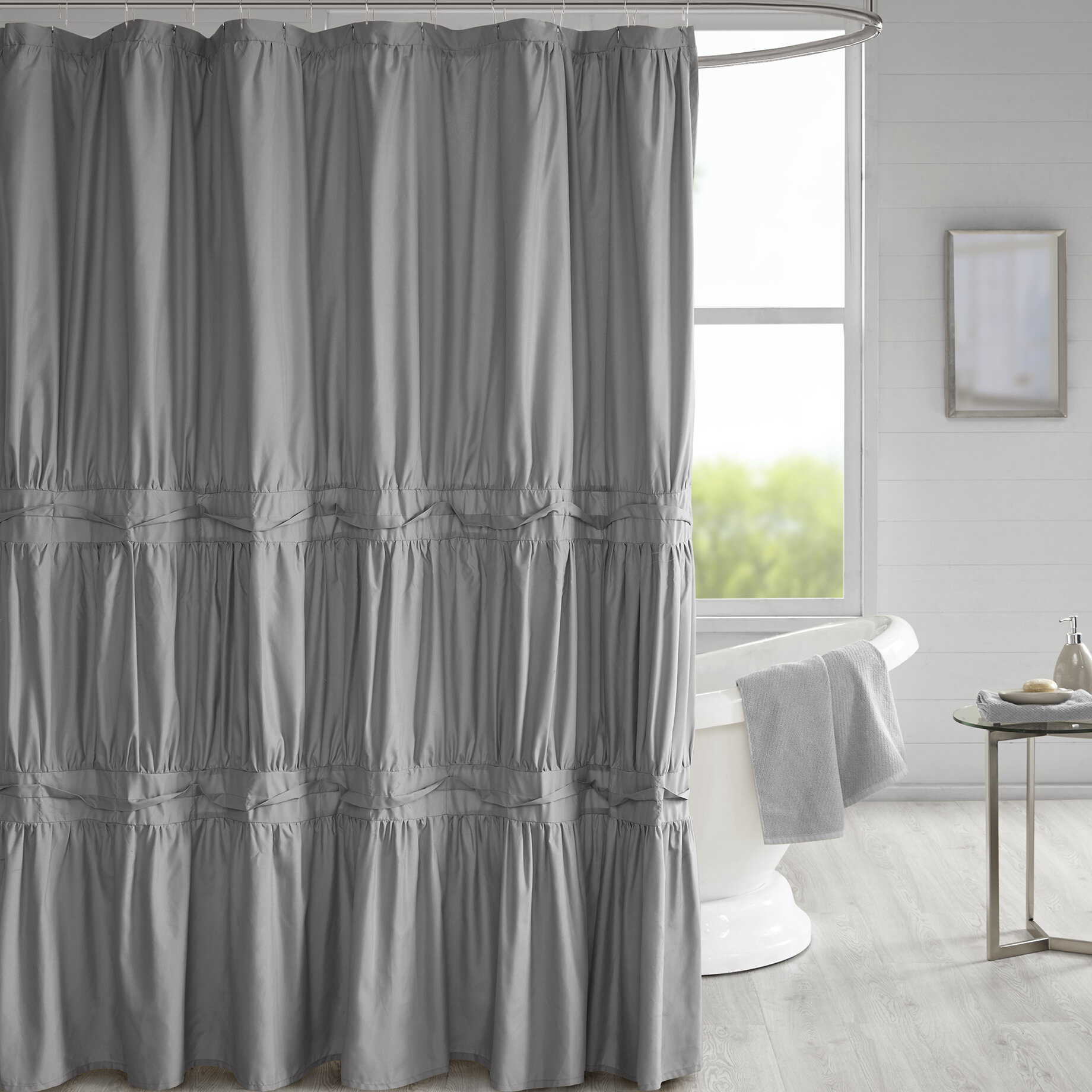 Tyntesfield Solid Shower Curtain Reviews