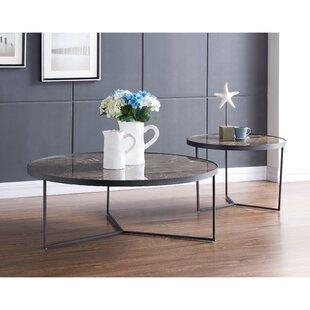 17 Stories Gaetane 2 Piece Coffee Table Set