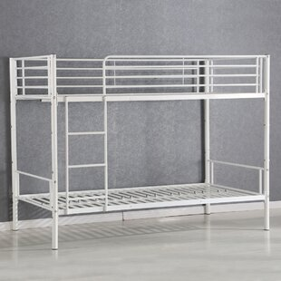 Harriet Bee Elin Metal Bunk Bed Frame Ladder