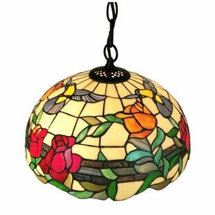 Amora Lighting Tiffany 2-Light Bowl Pendant