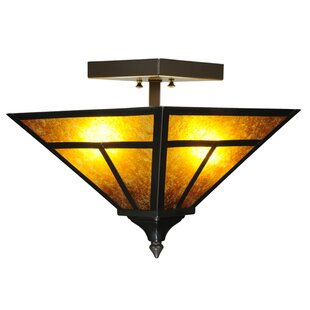 T Mission 2-Light Semi Flush Mount by Meyda Tiffany
