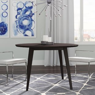 Gusman Round Stained Dining Table Brayden Studio