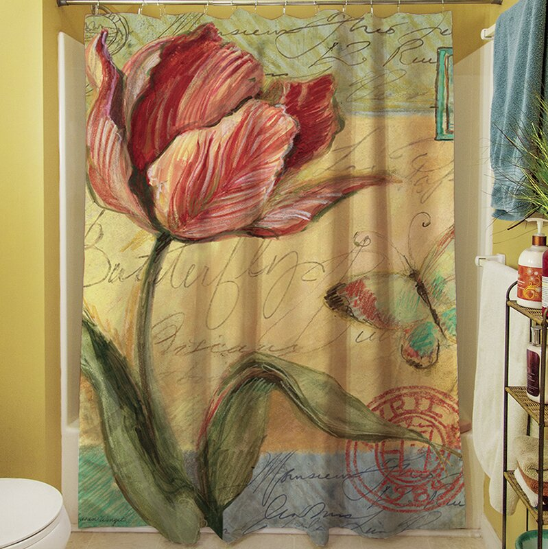 August Grove Shower Curtain With A Loretta Tulip