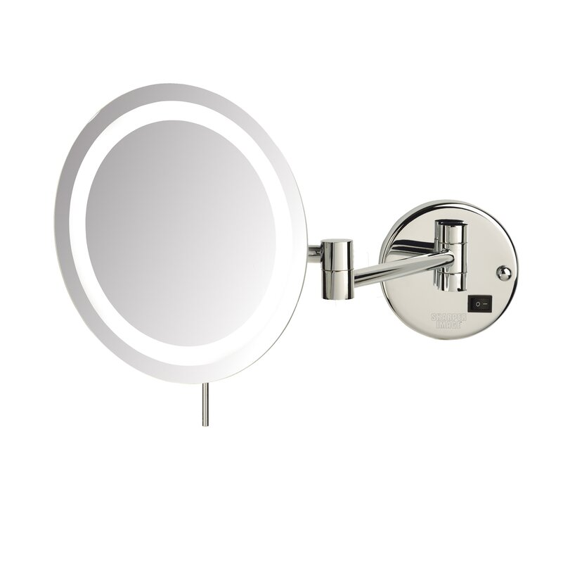 Led 8x magnifying wall mount makeup mirror reviews birch lane led 8x magnifying wall mount makeup mirror aloadofball Images