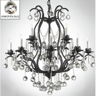 Rosdorf Park Clemence 12-Light Chain Candle Style Chandelier
