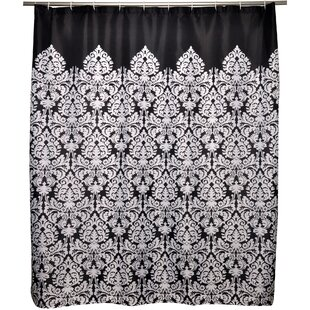 Online Reviews Dorchester Damask Shower Curtain By House of Hampton