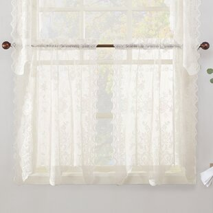White Cotton Cafe Curtains | Wayfair